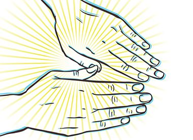 representation of arthritic hands